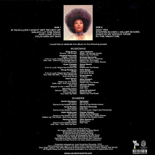 Betty Davis - Betty Davis (Reissue) (Back)