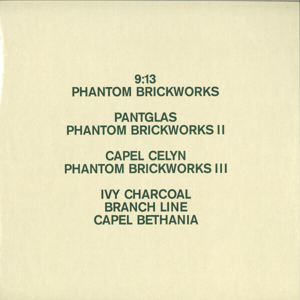 Bibio - Phantom Brickworks (Ltd. Ed. 2LP+MP3) (Back)