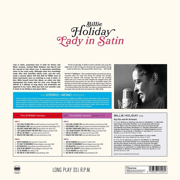 Billie Holiday - Lady In Satin (The Stereo & Mono Versions 2LP) (Back)