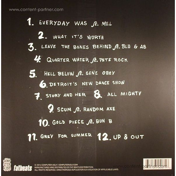 Black Milk - If There's A Hell Below (Back)