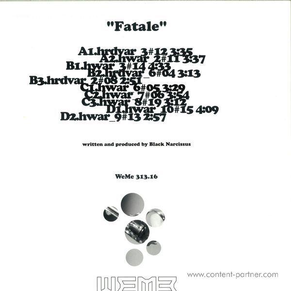 Black Narcissus - Fatale (Back)