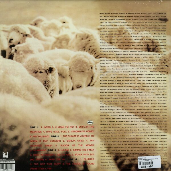 Black Sheep - A Wolf In Sheeps Clothing (LP) (Back)