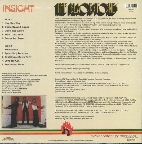 Blackstones - Insight (180g Reissue) (Back)