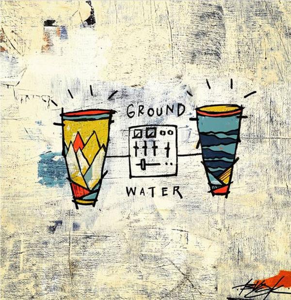 Blu &  Damu The Fudgemunk - Ground & Water (Blue Vinyl LP)