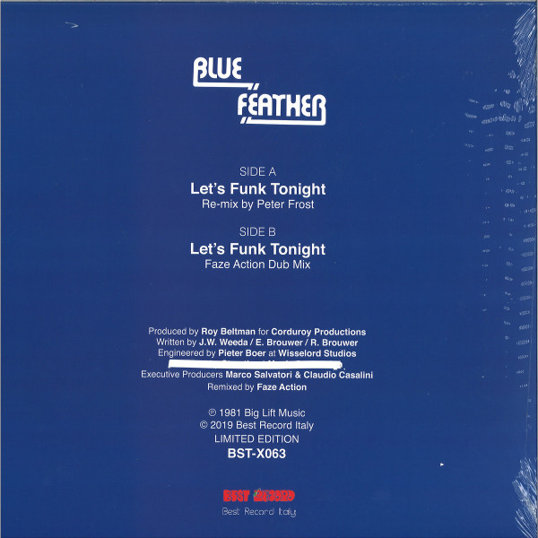 Blue Feather - Let's Funk Tonight (Faze Action mix) (Back)