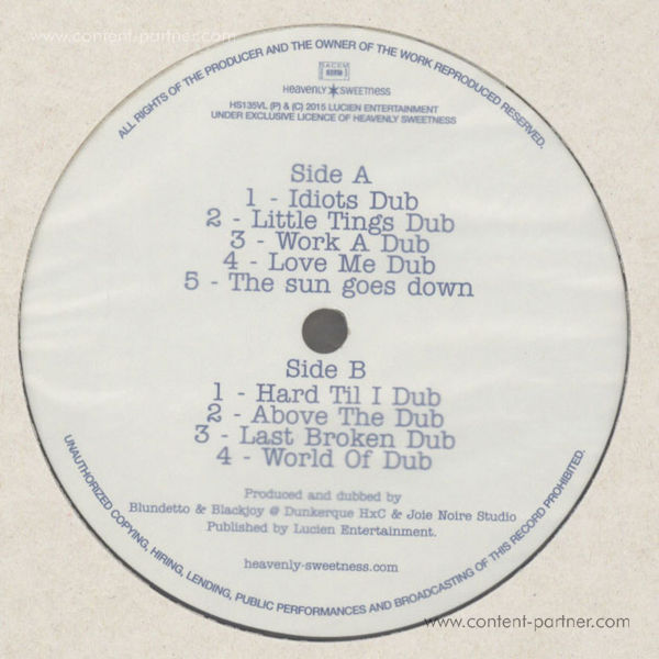 Blundetto - World Of Dub (Back)