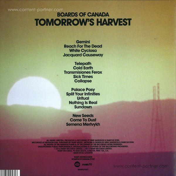 Boards Of Canada - Tomorrow's Harvest (2LP+MP3/Gatefold) (Back)