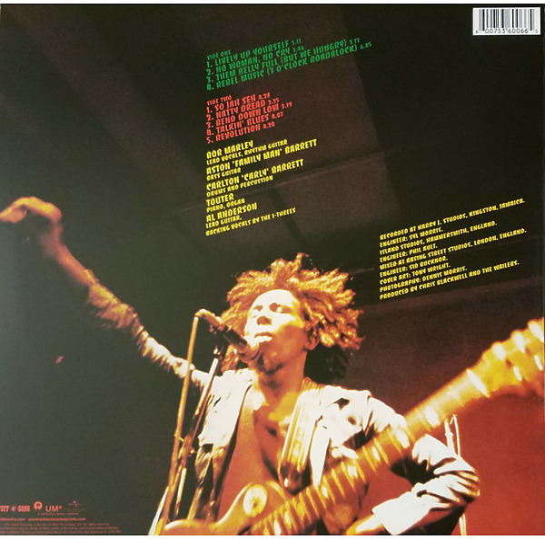 Bob Marley & The Wailers - Natty Dread (Ltd. LP) (Back)
