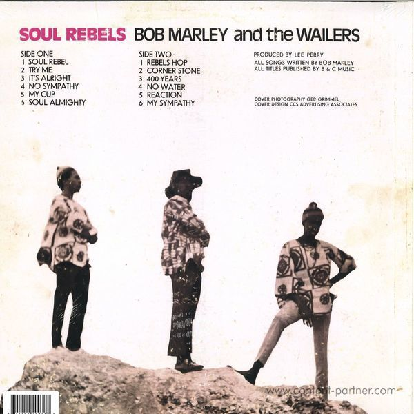 Bob Marley & The Wailers - Soul Rebels (Back)