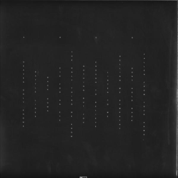 Bob Moses - Battle Lines (Ltd. 180g Clear 2LP+MP3) (Back)