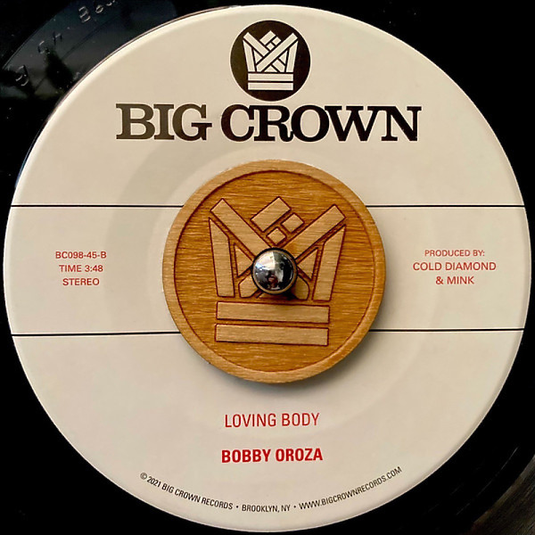 """Bobby Oroza - I Got Love / Loving Body (7"""" Vinyl) (Back)"""