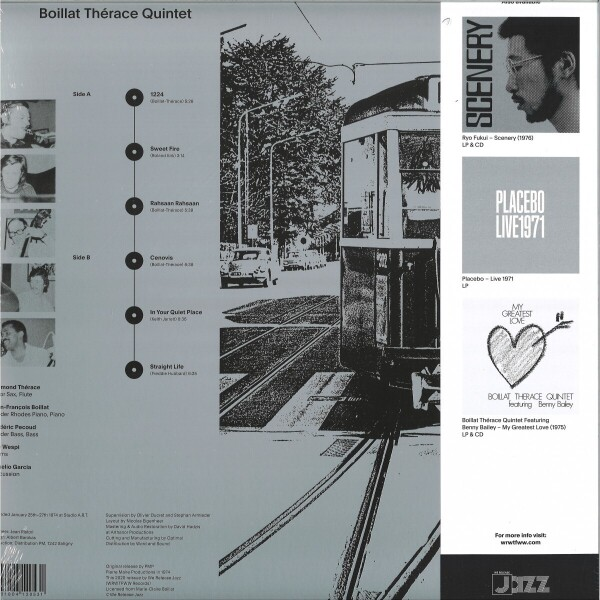 Boillat Thérace Quintet - Boillat Thérace Quintet (LP, 350g Sleeve) (Back)