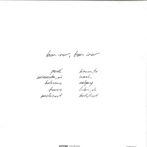 Bon Iver - Bon Iver (180g Vinyl LP) (Back)