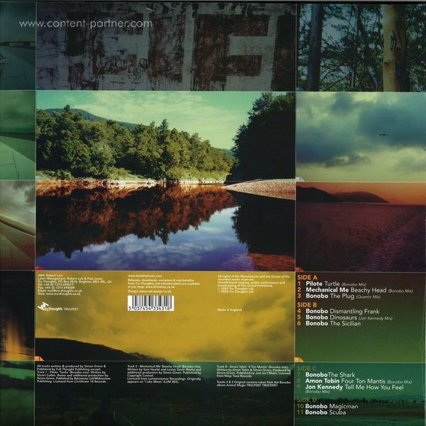 Bonobo - One Offs, Remixes & B Sides (2LP Repress) (Back)