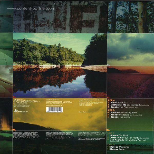 Bonobo - One Offs, Remixes & B Sides (2LP+MP3 repress) (Back)