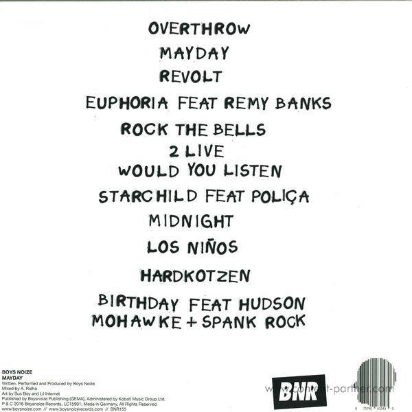 Boys Noize - Mayday (2LP+MP3/Gatefold/Poster) (Back)