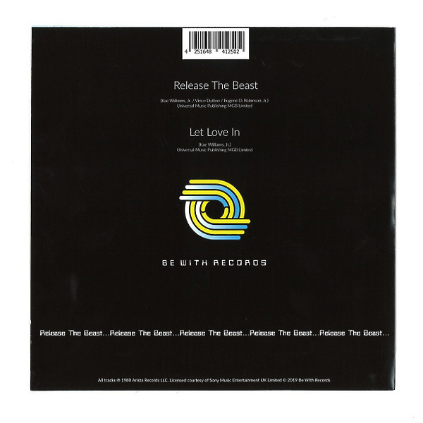 """Breakwater - Release The Beast (7"""", Picture Sleeve) (Back)"""