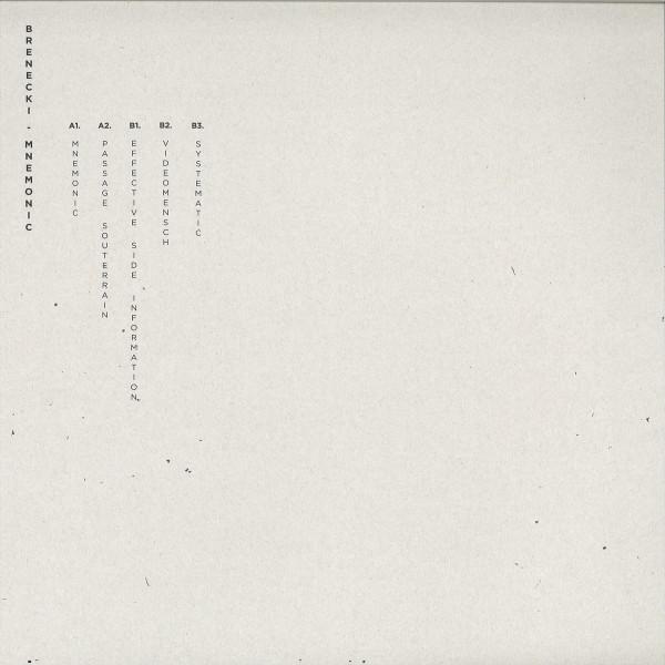 Brenecki - Mnemonic EP (Back)