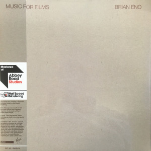 Brian Eno - Music For Films (Ltd. Halfspeed Master 2LP)