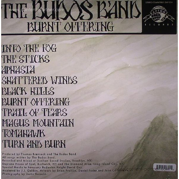 Budos Band - Burnt Offering (LP+MP3) (Back)