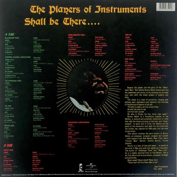 Bunny Wailer - Blackheart Man (180g Vinyl LP Reissue) (Back)