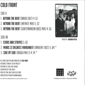 COLD FRONT - BEYOND THE BEAT (Back)