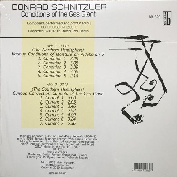 CONRAD SCHNITZLER - CONDITIONS OF THE GAS (Back)