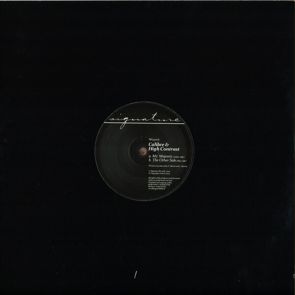Calibre & High Contrast - Mr. Majestic (Vinyl Only) Repress (Back)