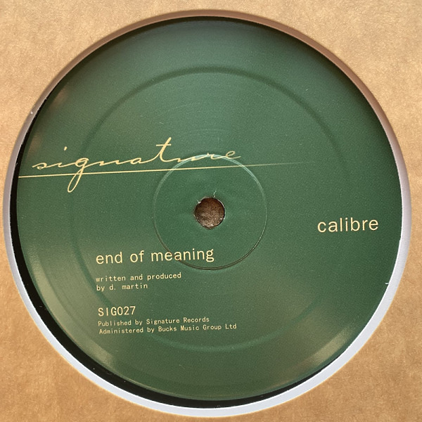Calibre - Falls To You VIP / End Of Meaning (Back)