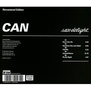 Can - Saw Delight (Remastered) (Back)