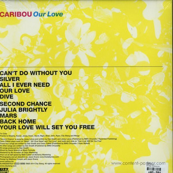 Caribou - Our Love (LP) (Back)