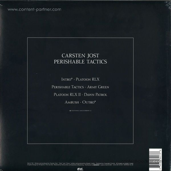 Carsten Jost - Perishable Tactics (2LP) (Back)