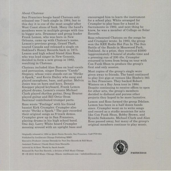 Chateau - Feelings (Back)