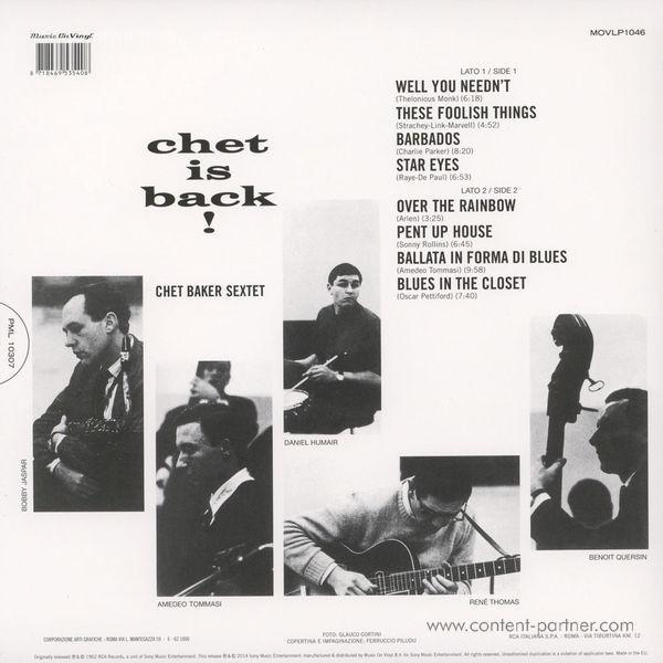 Chet Baker - Chet Is Back (LP) (Back)