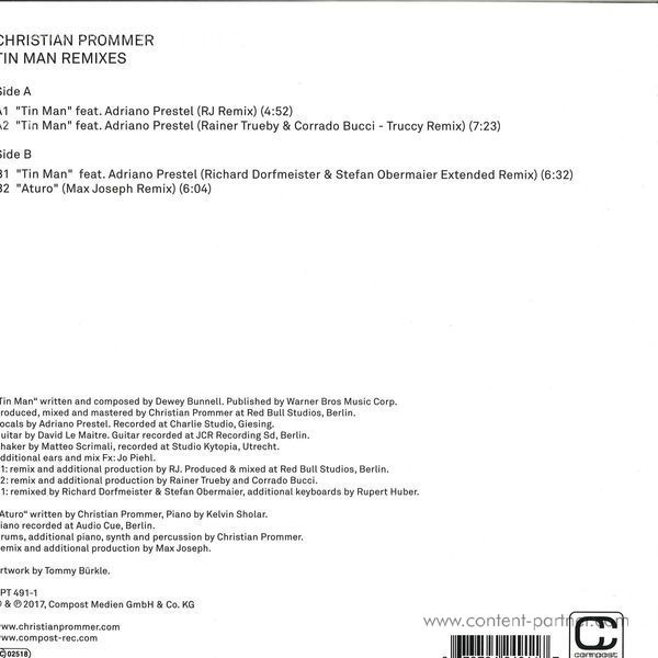 Christian Prommer - Tin Man Remixes (Back)