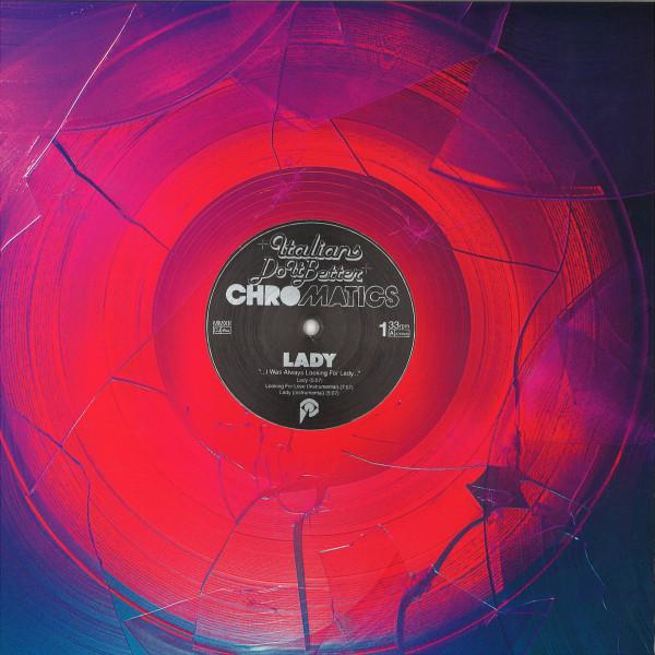 "Chromatics - Lady (Ltd. Pink Champagne 12"" Vinyl) (Back)"