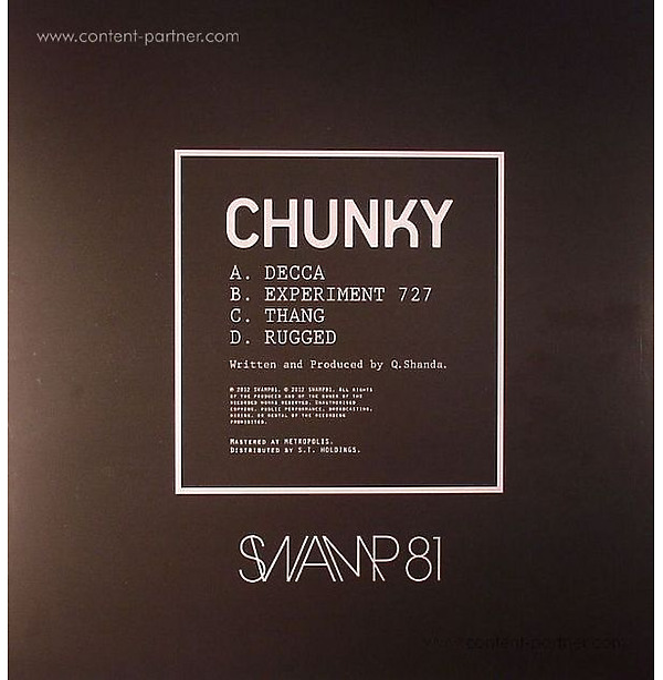 Chunky - the Chunky EP (Back)