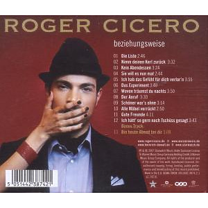 Cicero,Roger - Beziehungsweise (Back)
