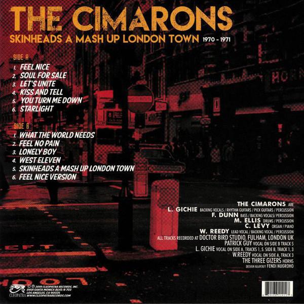 Cimarons - Skinheads A Mash Up London Town (Ltd. Red Vinyl) (Back)