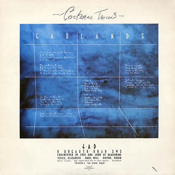 Cocteau Twins - Garlands (180g LP reissue) (Back)