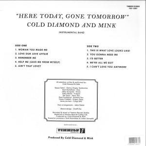 Cold Diamond & Mink - Here Today, Gone Tomorrow (Red Coloured LP) (Back)