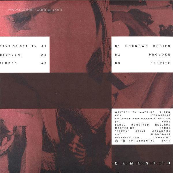 Coldgeist - Unknown Bodies (Back)