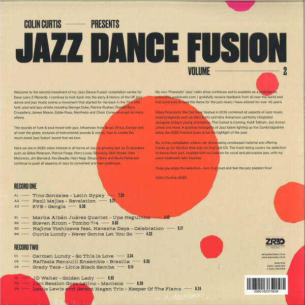 Colin Curtis / Various - Jazz Dance Fusion 2 (2LP) (Back)