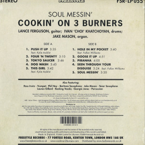 Cookin' On 3 Burners - Soul Messin' (10th Anniv. Clear Vinyl LP) (Back)