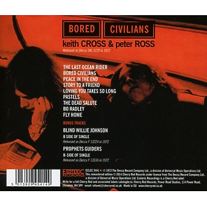 Cross,Keith/Ross,Peter - Bored Civilians (Remastered+Expanded Ed) (Back)