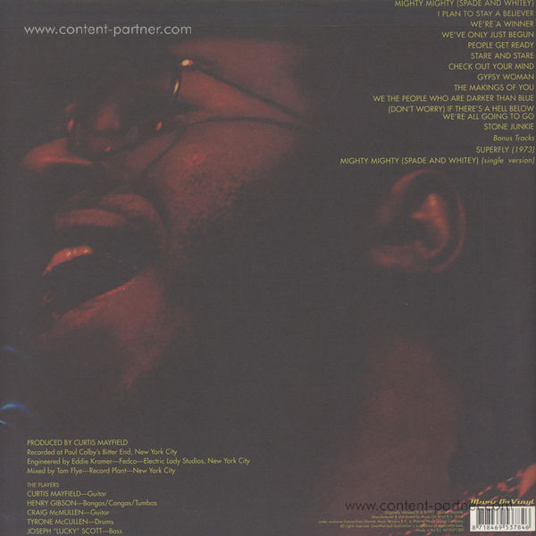 Curtis Mayfield - Curtis / Live! - Expanded (2LP) (Back)