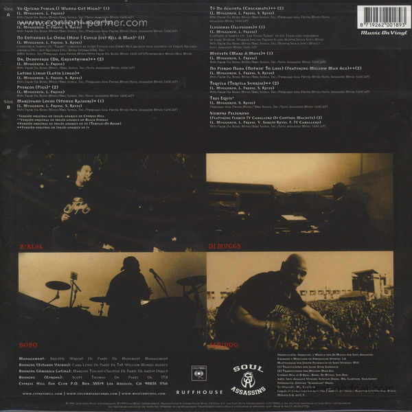 Cypress Hill - Los Grandes Exitos En Espanol (LP) (Back)