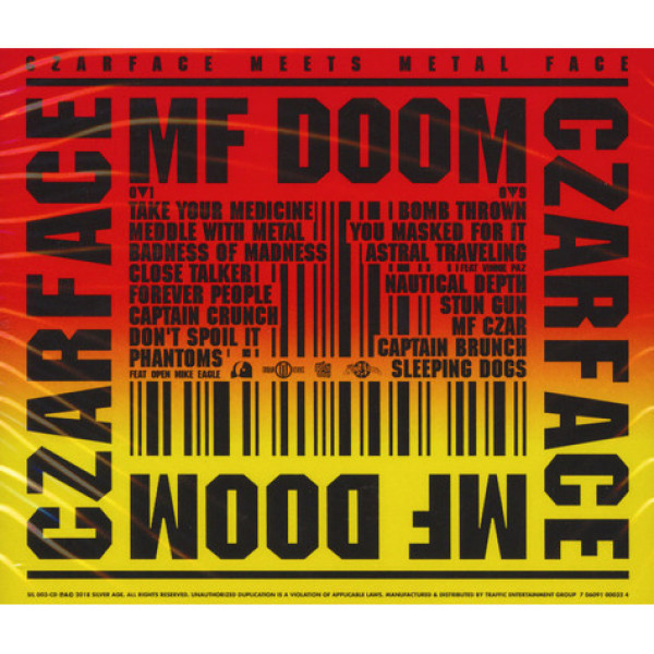 Czarface (Inspectah Deck&7L&Esoteric) & MF Doom - Czarface Meets Metal Face (Back)