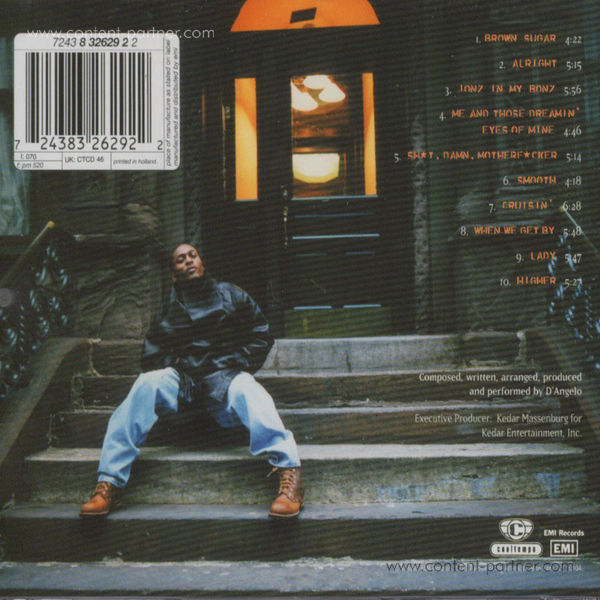 D'Angelo - Brown Sugar (20th Anniv. White Vinyl!) (Back)