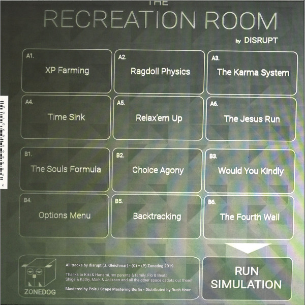 DISRUPT - THE RECREATION ROOM (Dented Corners) (Back)